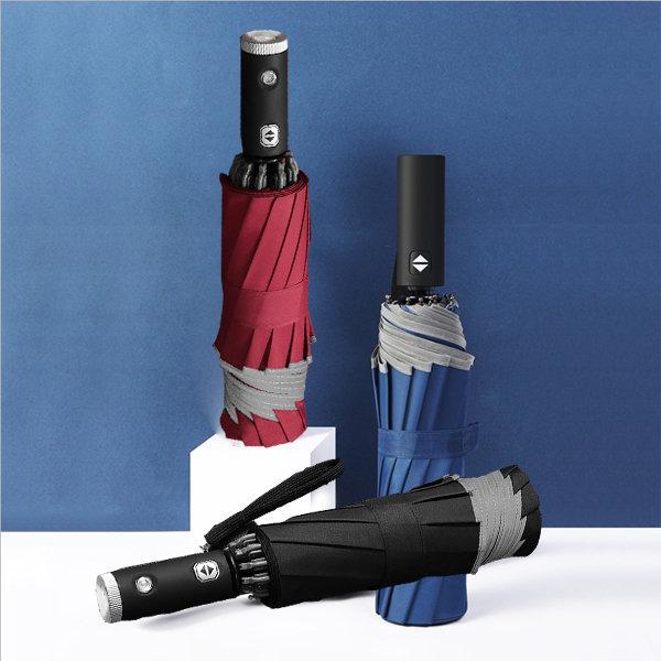 3단 거꾸로우산 LED 자동우산 반사대안전우산 휴대용