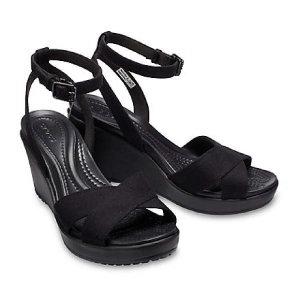 (현대백화점) 크록스 Crocs 여성화 레이웨지 II 앵클 스트랩 블랙 (204950-060) HCWS 샌들 아쿠아 캐주얼