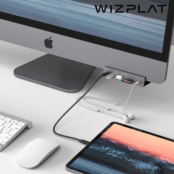 새로텍 WIZ-H52Pro 7in1 HDMI 멀티허브 iMaciMac Pro