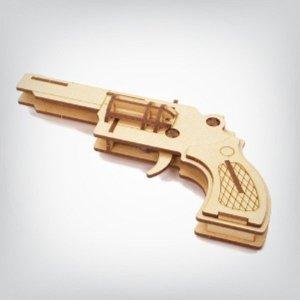 나무조립놀이-고무줄총 4연발만들기 R-MZ