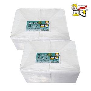 청소용부직포 건습식 도톰민무늬300X230 100매2팩200매