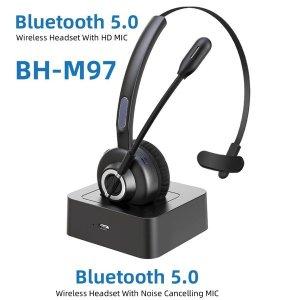 블루투스 무선 소음 차단 헤드셋 콜 센터 VOIP 헤드셋