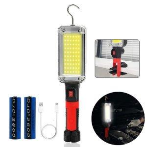 광폭광량 UP LED COB 충전식 작업등 손전등 랜턴 집게