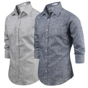 7부셔츠/남자남방/7부 시원하고 깔끔한 슬라브7부셔츠