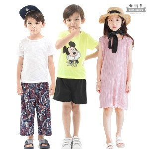 키즈레시피 디즈니미키/맨투맨/팬츠/여름아동복