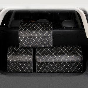 차박 차량용 가죽 트렁크 정리함 자동차용품 수납용품