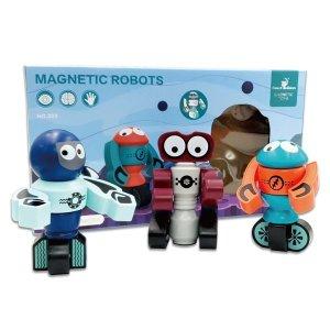 어린이 감각발달 자석 로봇 완구 장난감 3종 세트 로
