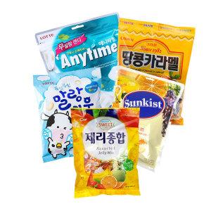 과자세트 탕비 간식 캔디 파이 비스켓 스낵/애니타임