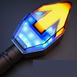 오토바이 LED 화살표 듀얼 깜박이 강력 가독성 1개