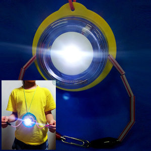 2in1 터치전기박사 만들기(목걸이형)(1인용 포장)전등