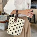 도트 버킷 에코백 여성가방 숄더백 천가방 캔버스백