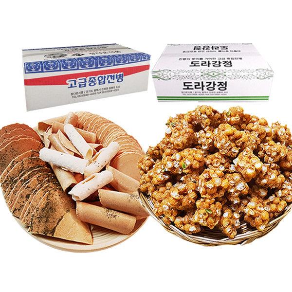 옛날과자 고급종합전병 1kg + 도라강정 700g