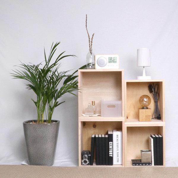 편백나무  원목 공간박스 일반형 1p 수납함