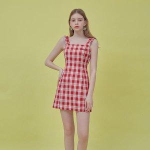 갤러리아  Heart Check Sleeveless Dress (Red)