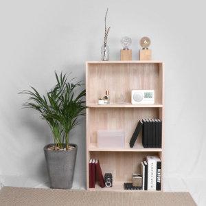 단단한 편백나무 원목 와이드 3단 넓은책장 수납장 DIY