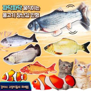 움직이는 물고기 장난감 인형 고양이 강아지/ 산천어