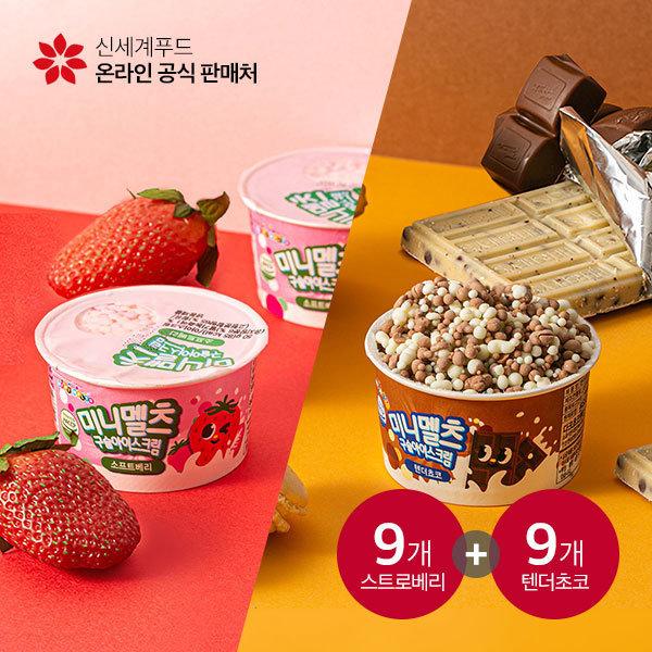구슬아이스크림 텐더초코 9개 + 소프트베리 9개 (18개)