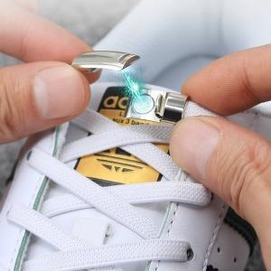 자석 신발끈 고정 풀림 방지 매듭 없는 운동화 자석만
