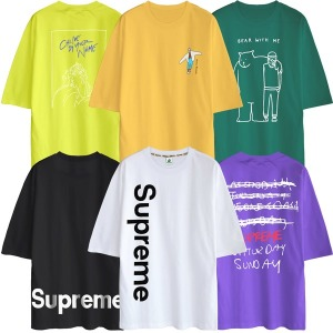 빅사이즈 반팔티 S~5XL 티셔츠 남성 여성 남자 큰옷
