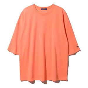 빅사이즈 오버핏 박스 7부 무지 반팔 티셔츠 5컬러