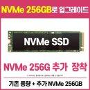 NVMe SSD 256GB (추가장착 + 서멀패드) EV001 옵션