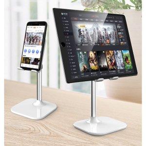 스마트폰 테블릿 거치대 화이트 각도+높이조절 거치대