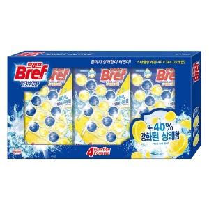 브레프 파워액티브 변기세정볼 50gx4개x3 레몬향