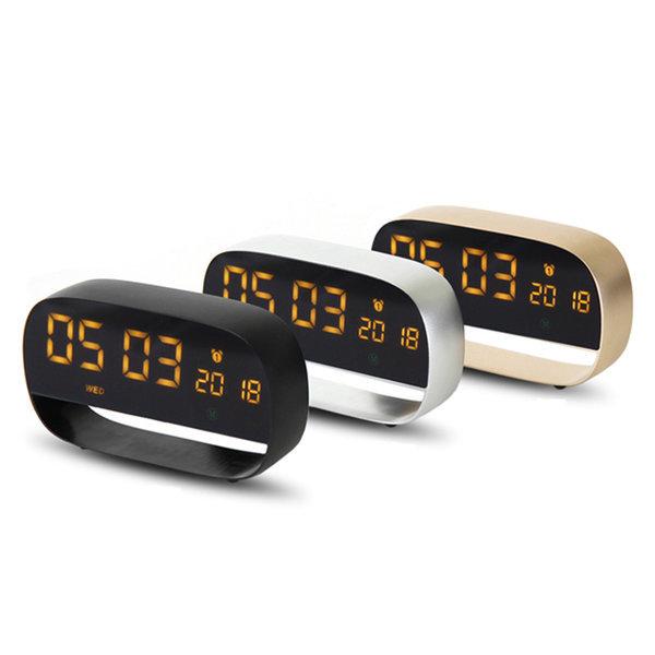알루미늄 무소음 LED 시계 TK-AMC01 블랙 인테리어소품