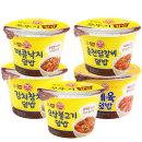 컵밥 5종 김치참치+제육+오삼+춘천닭갈비+매콤낙지