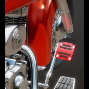 오토바이 패달커버 바이크 브레이크 장식 1030C 레드