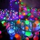 LED 컬러 앵두전구 20구 3m (건전지타입) 캠핑전구