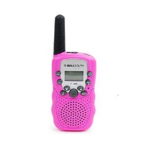 미니무전기 2개세트 핑크 반경8km 생활무전기+플래쉬