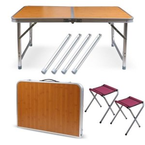 2인용 접이식 캠핑테이블 (의자포함)/휴대용테이블