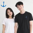 코오롱쿨론 기능성 반팔 빅사이즈 닻자수 쿨 티셔츠