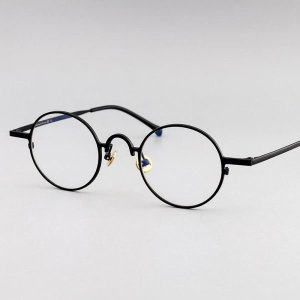 작은원형 안경테 슬림프레임 아치형 코브리지 이탈리