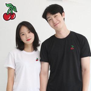 코오롱쿨론 기능성 반팔 빅사이즈 체리자수 쿨 티셔츠