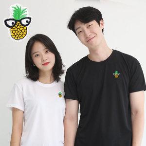 코오롱쿨론 기능성 반팔 빅사이즈 파인애플 쿨 티셔츠