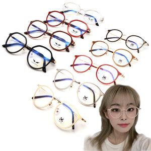 MPO 초경량 솔텍스 뿔테 안경테 블루라이트차단 안경