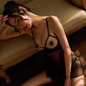 온 오픈 터치 시스루 슬립 섹시속옷 이벤트속옷