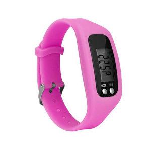 만보계 시계 거리 칼로리측정 스마트 만보기 핑크