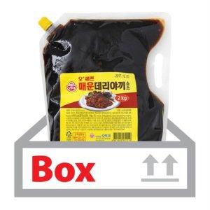매운데리야끼소스 2kg 6ea(박스)/오뚜기-식자재 식당