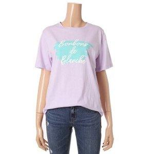 테이트  여성 루즈핏 반팔 티셔츠 KA9U4-WKS090