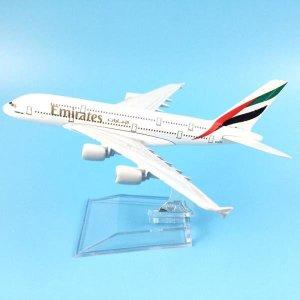 무료 배송 에어 에미레이트 A380 항공기 모델 에어 버
