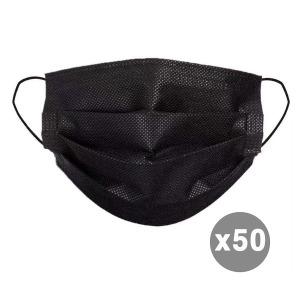 일회용 3중필터 멜트블로운 덴탈 마스크 50매 black