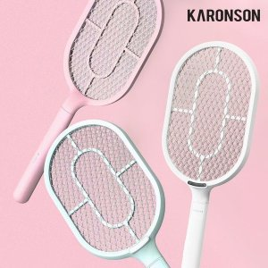 (카론슨(KARONSON)) 카론슨 커브핸들 충전식 전기 모기채 전자 파리채