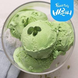 라벨리 아이스크림 프리미엄 4L 녹차 대용량