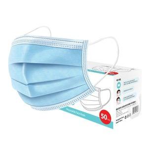 여름용 MB필터 멜트블로운 일회용 마스크 50매 블루