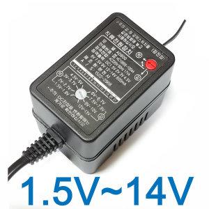 정전압 다용도 만능 아답터 1.5V~14V 멀티 어댑터 모음