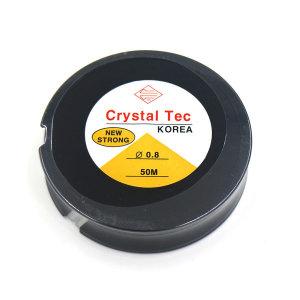 투명 우레탄줄 0.8x50m/팔찌만드는줄/반지재료/고무줄