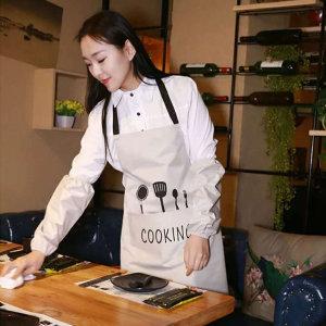 쿠킹 앞치마 베이지/주방 작업 위생 식당용 방수 비닐